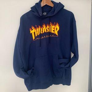 Thrasher Magazine Men's Blue Hoodie Sz L